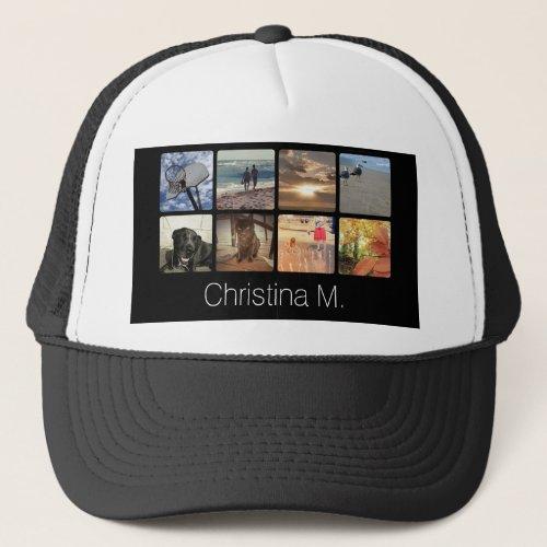 Custom Multi Photo Mosaic Picture Collage Trucker Hat