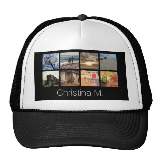 Custom Multi Photo Mosaic Picture Collage Trucker Hat