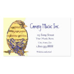 Custom Music & Bird Business Card
