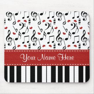 Custom Music Note Piano Mousepad