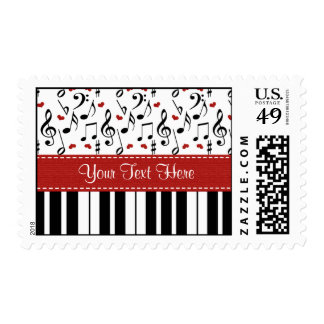 Custom Music Note Piano Postage Stamps
