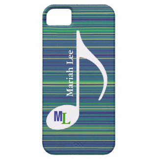custom music note / stripes iPhone 5/5S covers