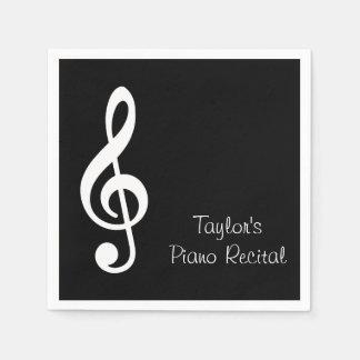 Custom Music Recital Party Napkins