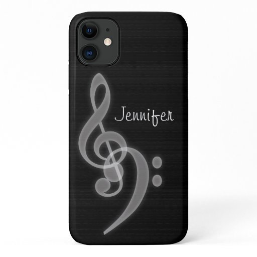 Custom Music - Treble & Bass Clef iPhone 11 Case
