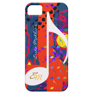 custom musical note colors iPhone SE/5/5s case