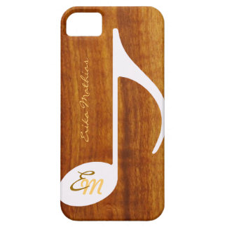 custom musical note on wood iPhone 5 cover