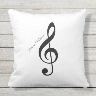 custom musical note throw pillow