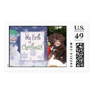 """Custom """"My First Christmas"""" Puppy Postage!"""