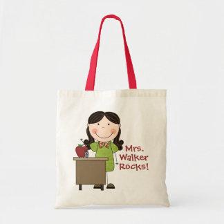 Custom My Teacher Rocks Tote Bag
