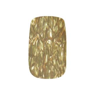 Custom Nail Art - Crumpled Gold Leaf Effect Minx® Nail Wraps