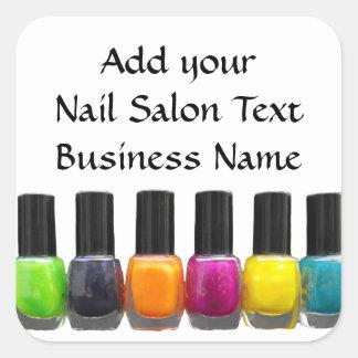 Custom Nail Polish Bottles Nail Salon Square Sticker