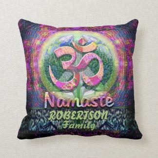 Custom Namaste Peace Symbol Throw Pillow