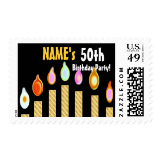 CUSTOM NAME 50th SURPRISE Birthday Party Stamp