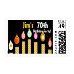 CUSTOM NAME 70th Birthday Party Stamp - GOLD