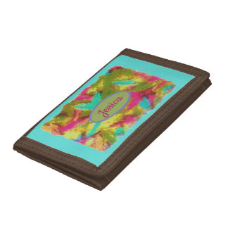 Custom Name Abstract Design Trifold Wallet