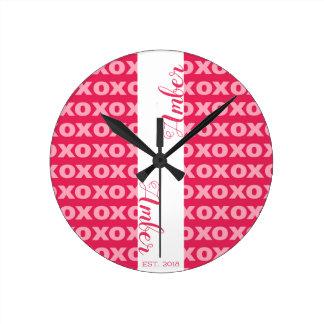 Custom Name Acrylic Wall Clock