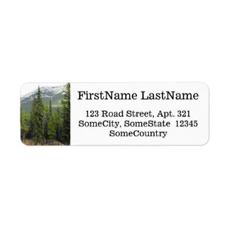 Custom Name/Address + Forest and Mountain Scene Label