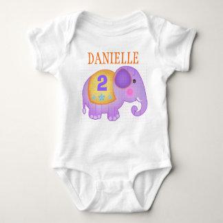 Custom Name & Age Birthday Elephant T-Shirt