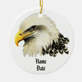 Custom Name, American Eagle Remember Never Forget Ornaments