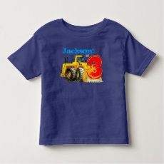 Custom Name and Age Boy's Giant Yellow Digger 3rd Shirt