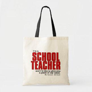 Custom Name and Class Funny Teacher's Tote Bag