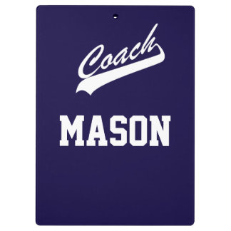 Custom Name and Color Sports Coach Clipboard