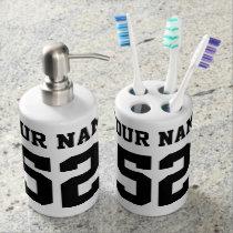 Custom Name and Number Bathroom set