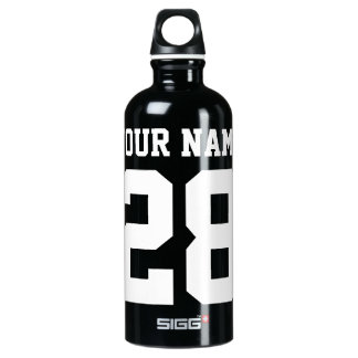 Custom Name and Number sports Water Bottle