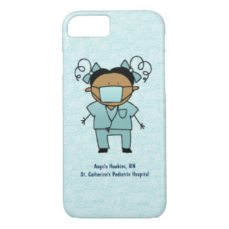 Custom Name and Occupation Medical Woman Blue iPhone 8/7 Case