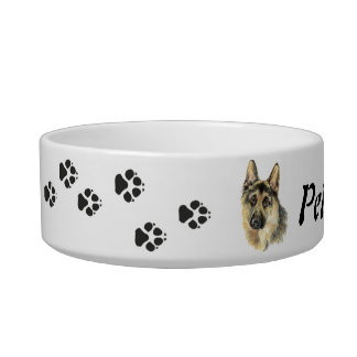 Custom Name and Photo German Shepherd, Pet, Dog Bowl