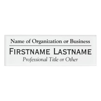 Custom Name Badge - Name of Organization or Church