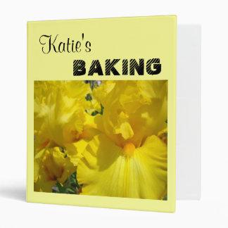 Custom Name BAKING recipe book binder Sweets