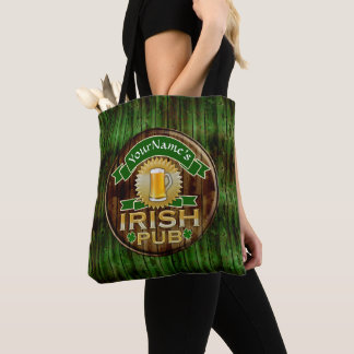 Custom Name Bar Irish Pub Sign St Patricks Day Tote Bag