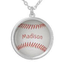 Custom Name Baseball necklace