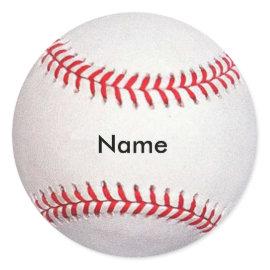 Custom Name Baseball Stickers