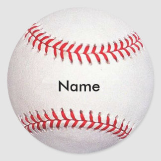 Custom Name Baseball Stickers