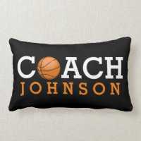 Custom Name Basketball Coach Office Lumbar Pillow