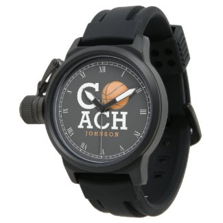 Custom Name Basketball Coach Wristwatch