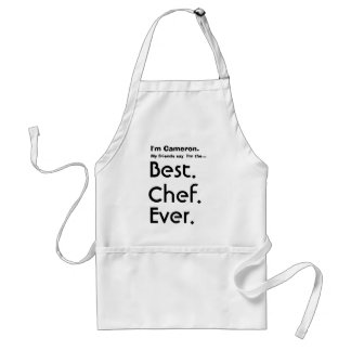 Custom Name Best Chef Ever Adult Apron