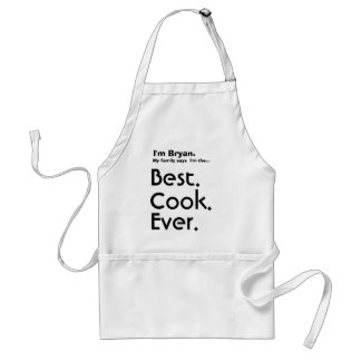 Custom Name Best Cook Ever Adult Apron