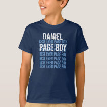 Custom Name Best Ever Page Boy Navy V08 T-Shirt