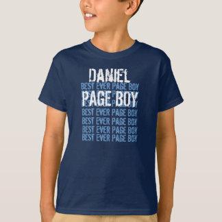 Custom Name Best Ever Page Boy Navy V08 T-Shirt