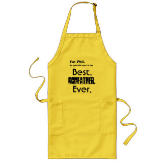 Custom Name Best Godfather Ever Long Apron