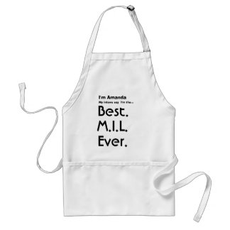 Custom Name Best Mother In Law Ever Adult Apron