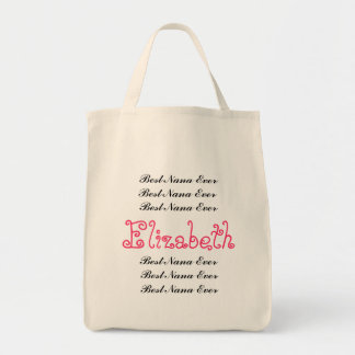 Custom Name Best Nana Ever Canvas Bag