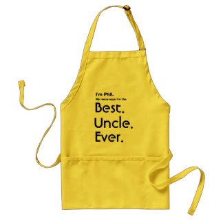 Custom Name Best Uncle Ever Adult Apron