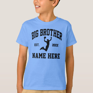Custom Name Big Brother Basketball T-Shirt