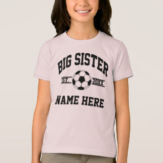 Custom Name Big Sister Soccer T-Shirt