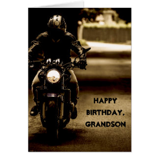 Custom Name - Birthday for Boy - Motorcycle Card