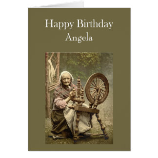 Custom Name Birthday Humor Vintage Spinning Class Card